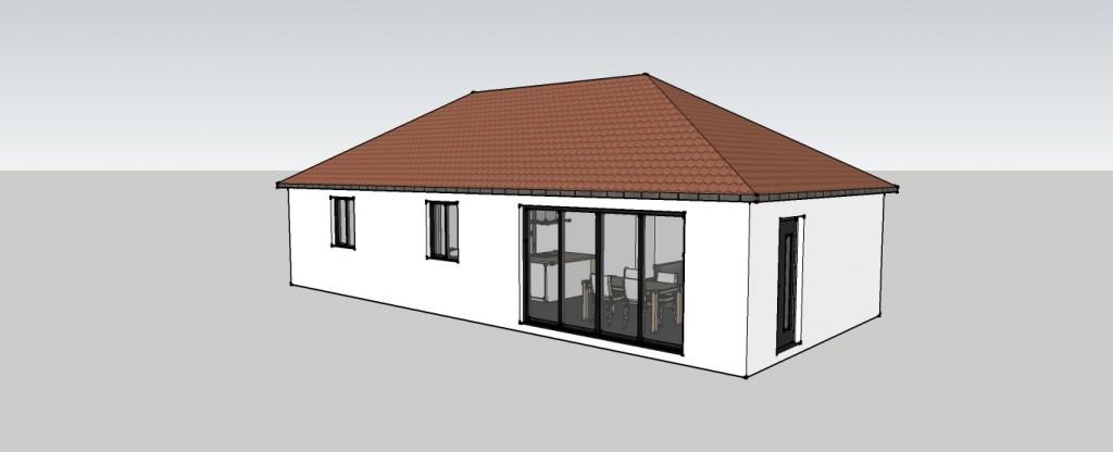 Seconds plans maison de plein pied ma maison constructeur - Plan maison 110m2 plein pied ...